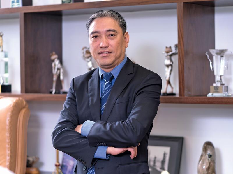 Doanh nhân Mai Thanh Phương, Chủ tịch Công ty cổ phần Sản xuất và Công nghệ Nhựa Pha Lê.