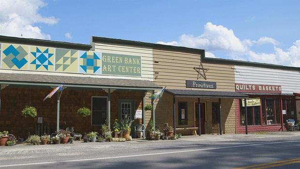 Thị trấn Green Bank cũng như bao thị trấn thông thường khác.