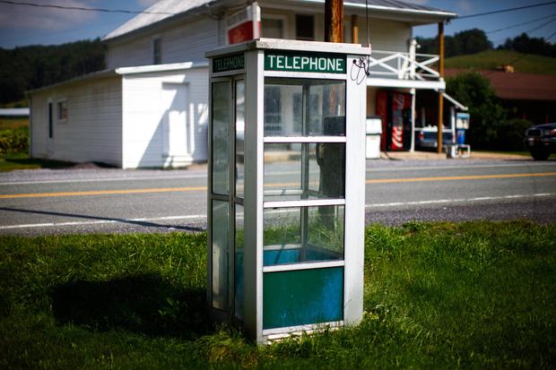 Một bốt điện thoại tại thị trấn Green Bank!