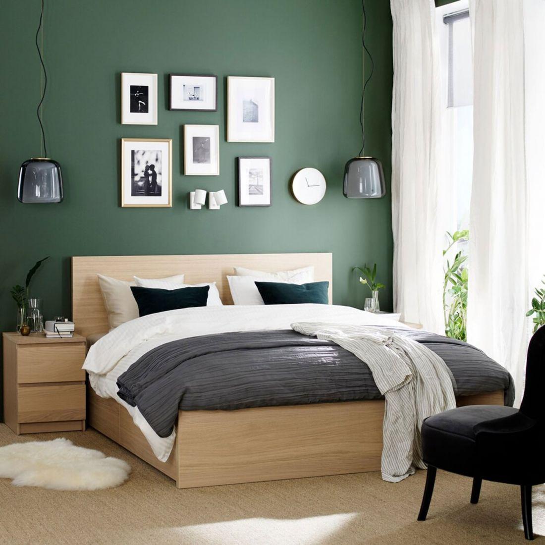 Phòng ngủ xanh lá cây 2