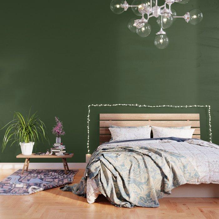 Phòng ngủ xanh lá cây 3
