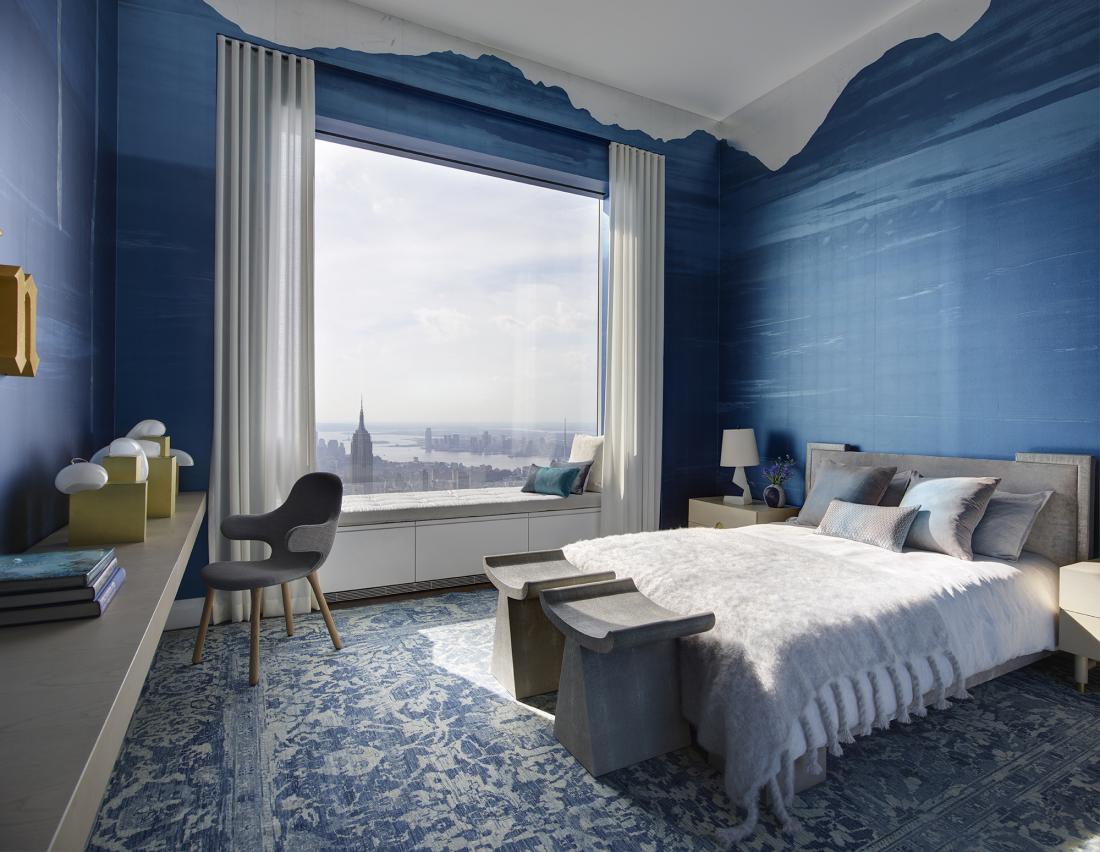 Màu xanh dương – Màu sơn phòng ngủ đẹp hợp với người mệnh Thủy