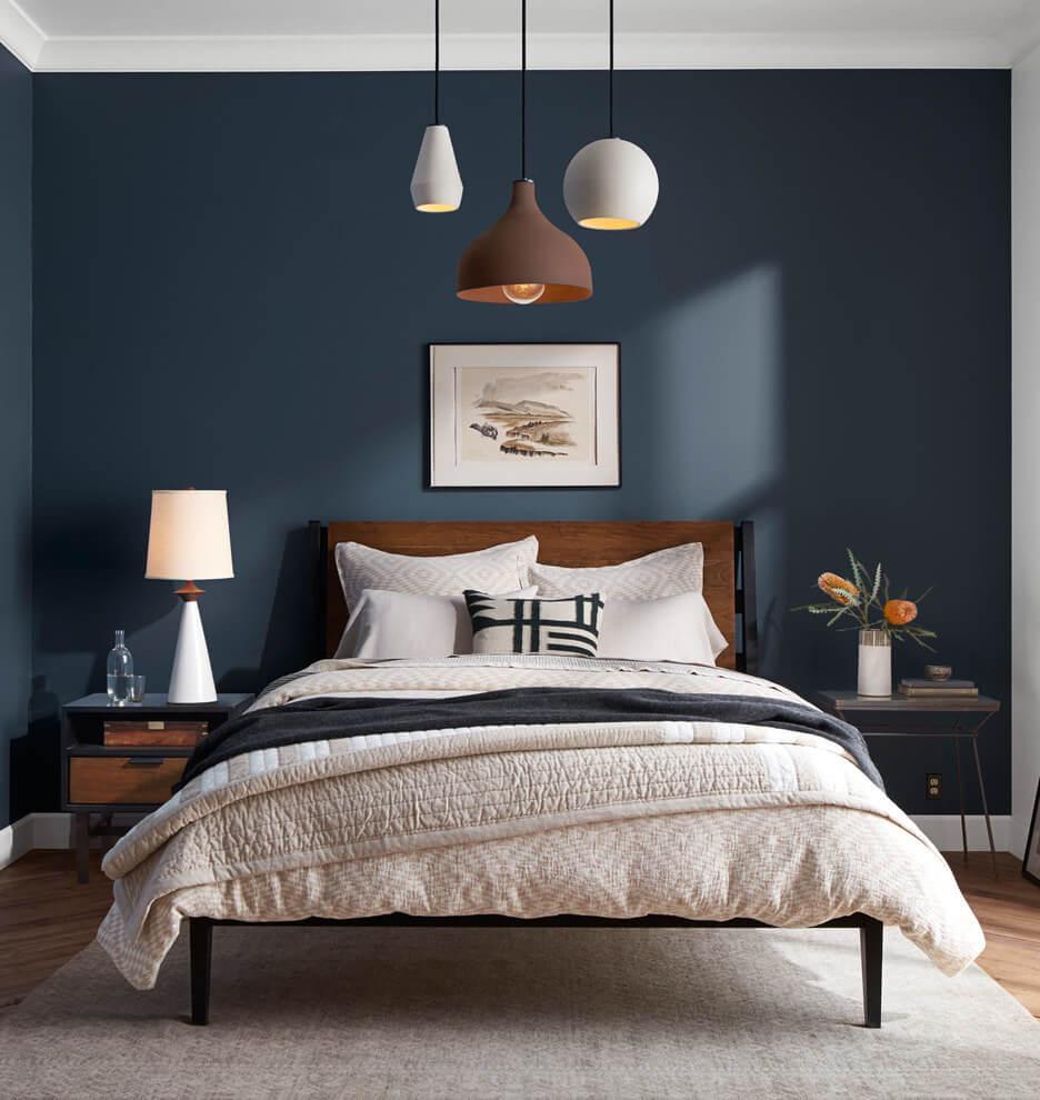 Phòng ngủ màu xanh dương 3