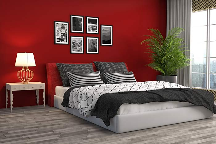 Phòng ngủ màu đỏ 2