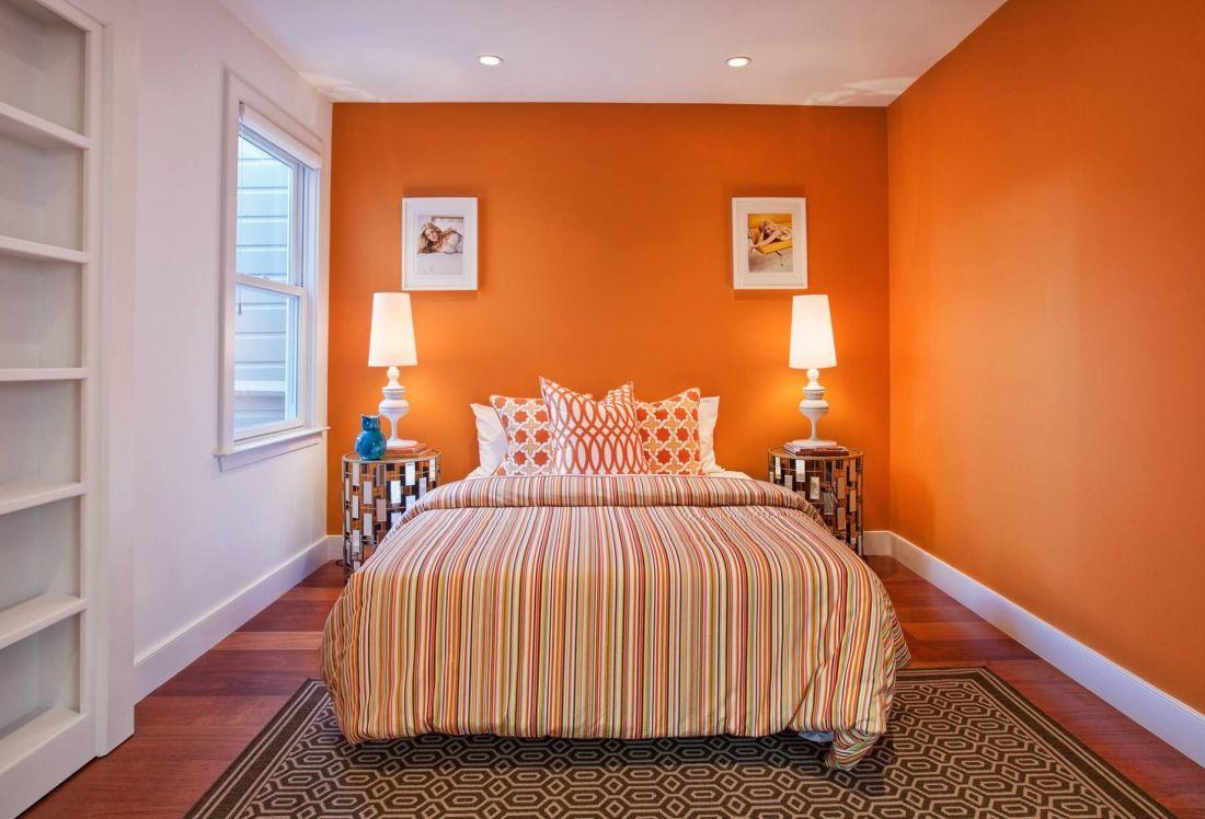 Phòng ngủ màu cam 2