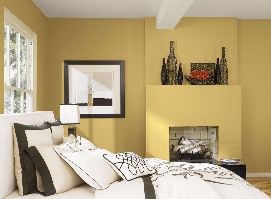 Màu vàng – Màu sơn phòng ngủ đẹp hợp với mệnh Hỏa và mệnh Thổ
