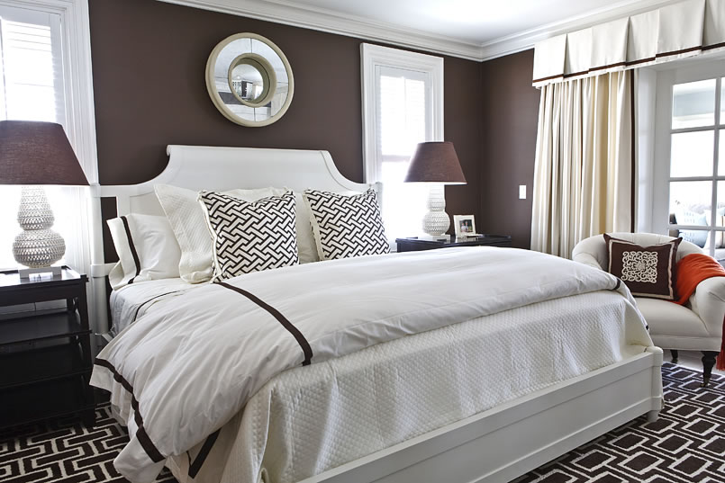 Màu nâu – Màu sơn phòng ngủ đẹp dành cho người mệnh Thổ