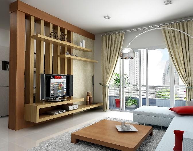 Vách ngăn phòng khách bằng gỗ CNC