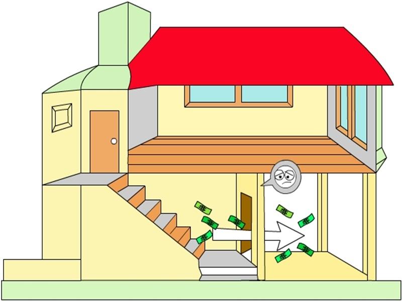 Tránh đặt cửa chính đối diện cầu thang.