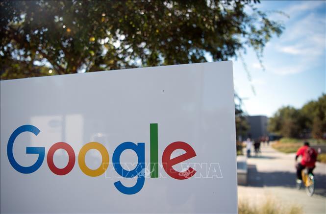 Biểu tượng Google tại trụ sở ở Menlo Park, California, Mỹ. Ảnh: AFP/TTXVN