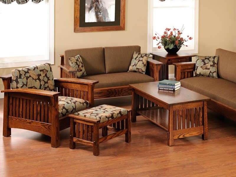 Bộbàn ghế gỗ bằng lăng đơn giản