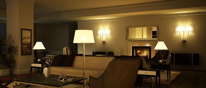 Đèn trang trí phòng khách biệt thự thêm sang trọng