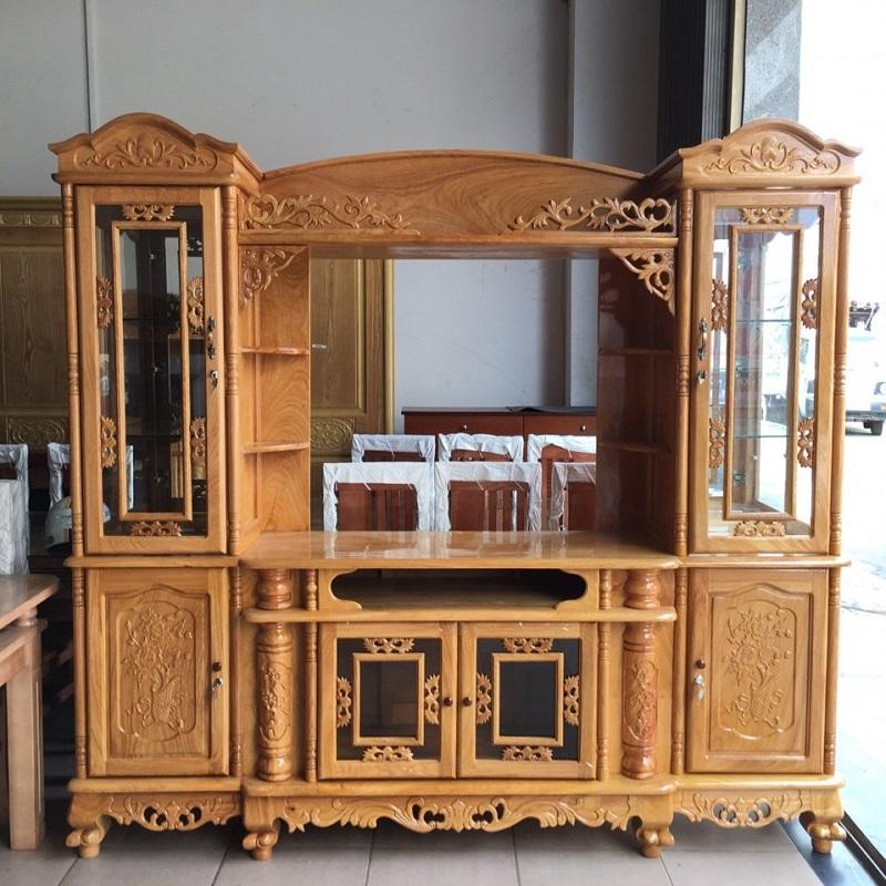 Tủ tivi từ gỗ Gõ Đỏ