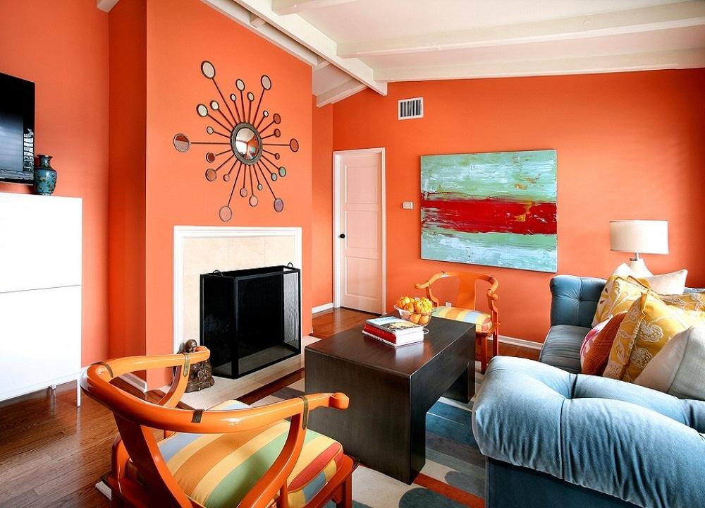 Màu sơn phòng khách hướng Bắc 1