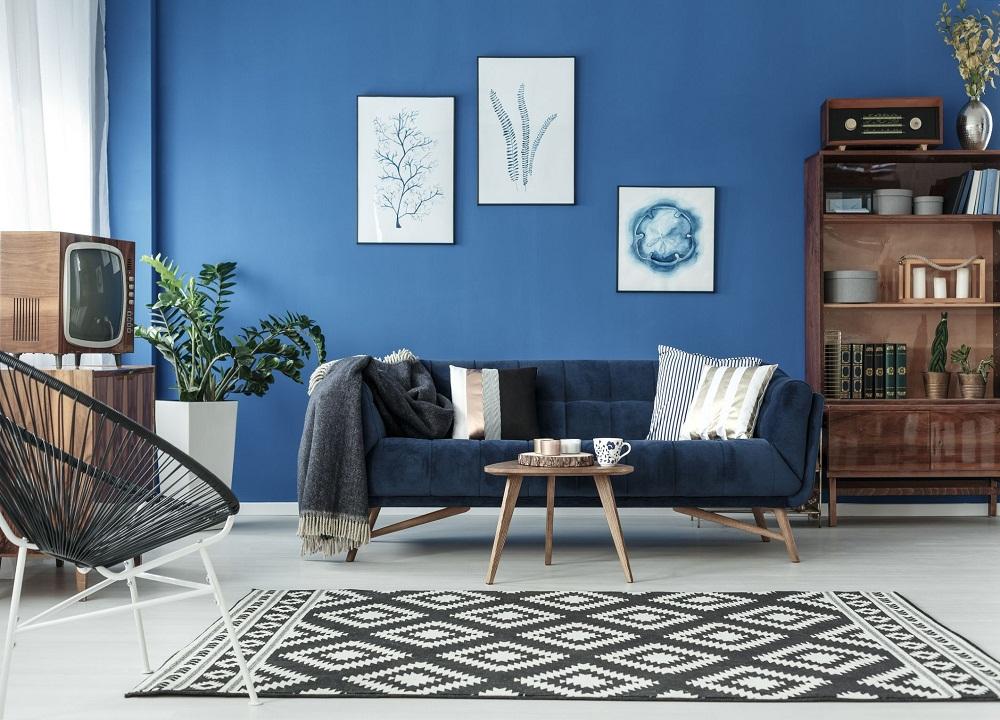 Màu sơn phòng khách mệnh Thủy