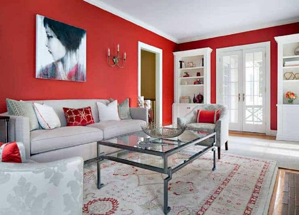 Màu sơn phòng khách mệnh Hỏa