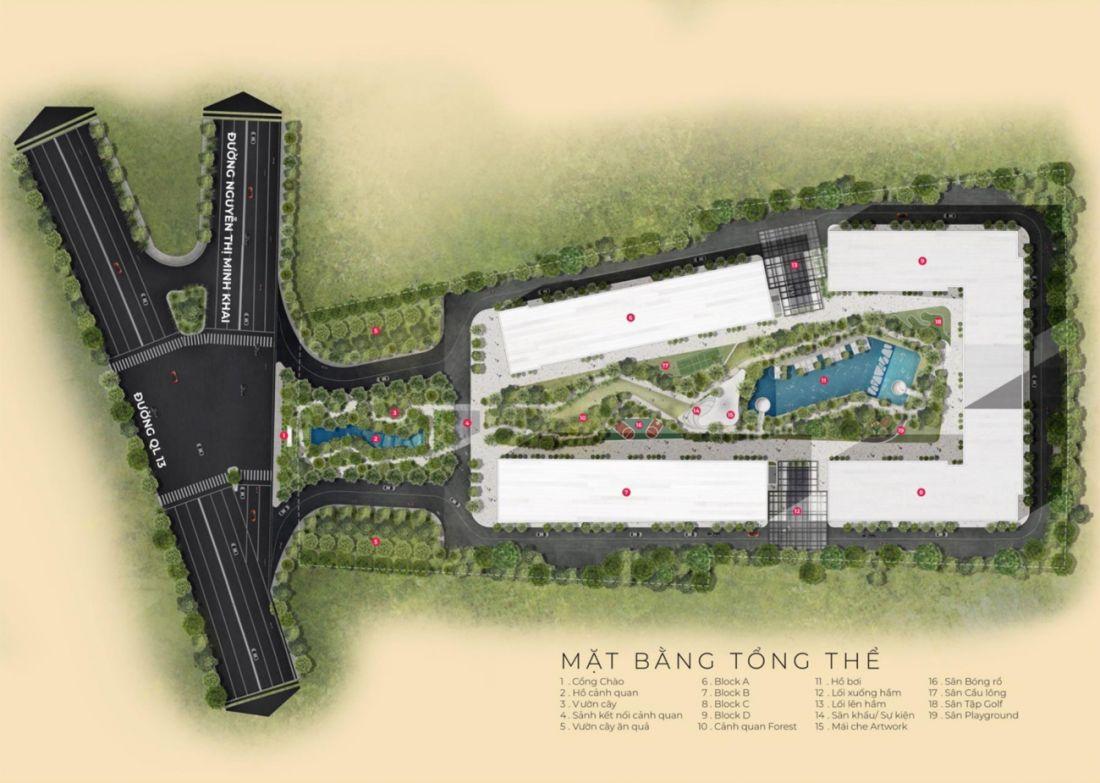 Mặt bằng dự án căn hộLavita Thuận An Bình Dương