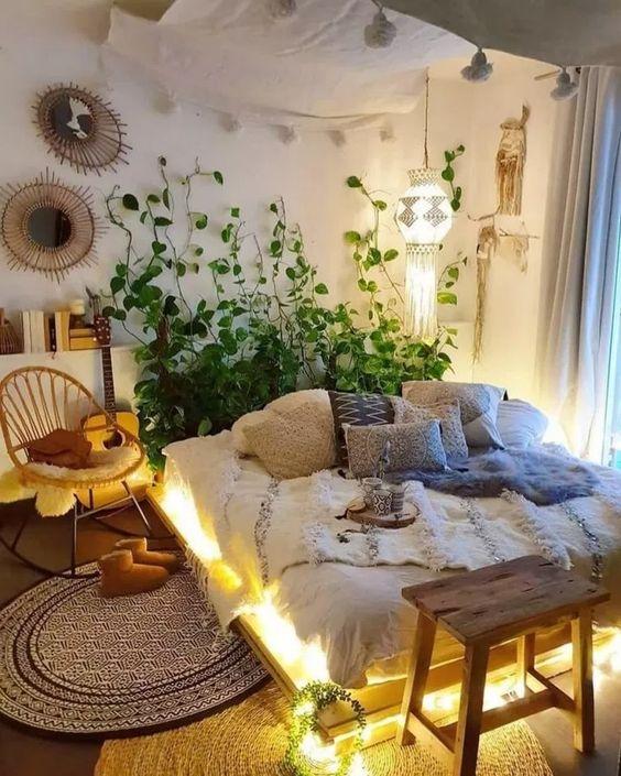 Ý tưởng trang trí phòng ngủ bằng cây xanh độc đáo