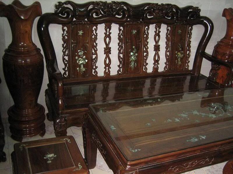 Đồ nội thất từ gỗ chiu liu