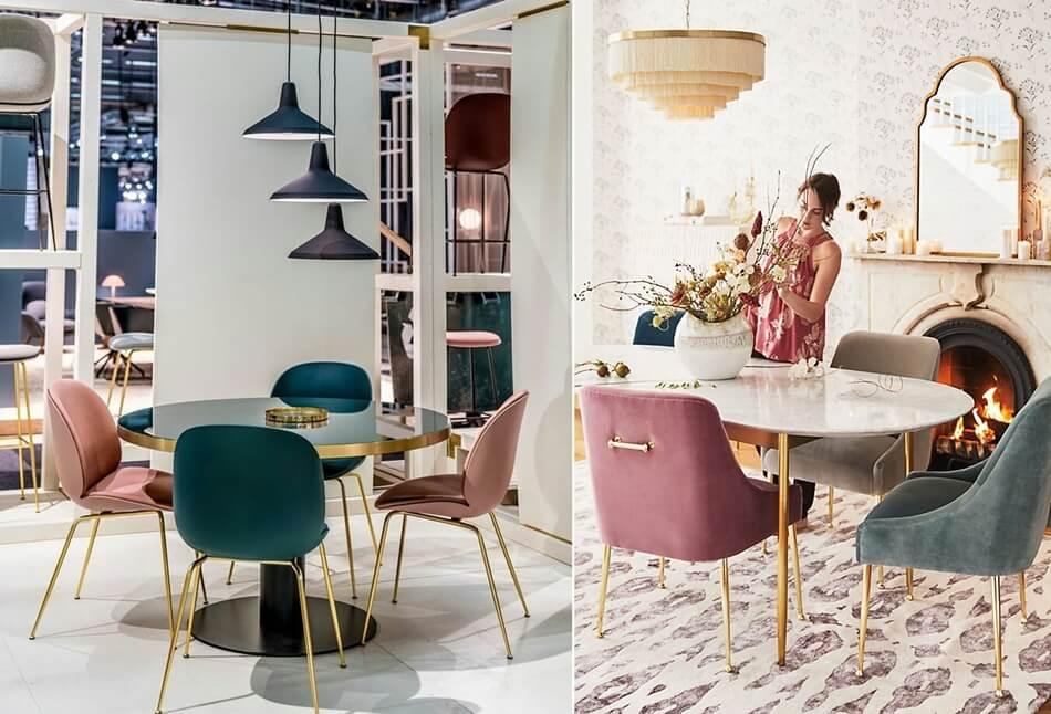 Ý tưởng trang trí nhà đẹp kết hợp màu hồng và xanh lá