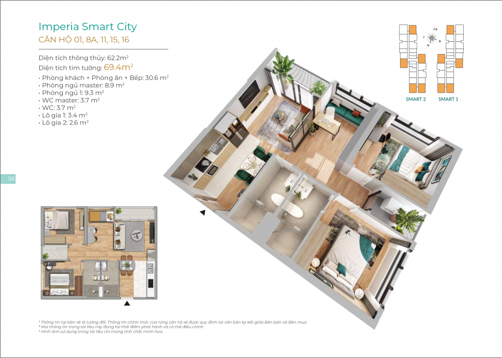 Căn hộ Imperia Smart City Nam Từ Liêm 3