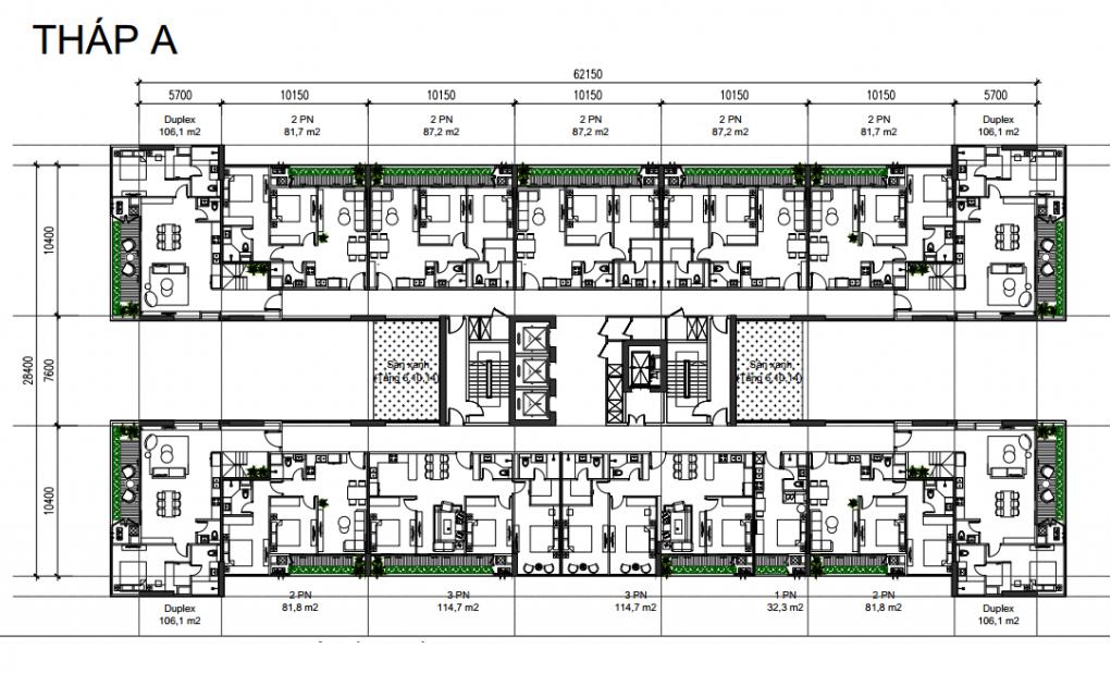 Tháp A dự án căn hộ Sunshine Green Iconic Long Biên