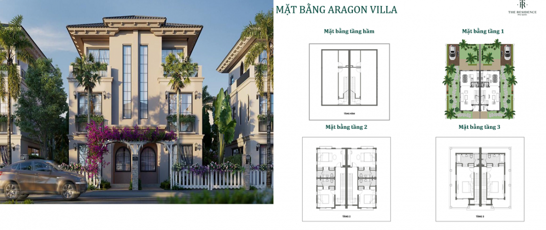 Phối cảnh dự án biệt thự The Residence Phú Quốc