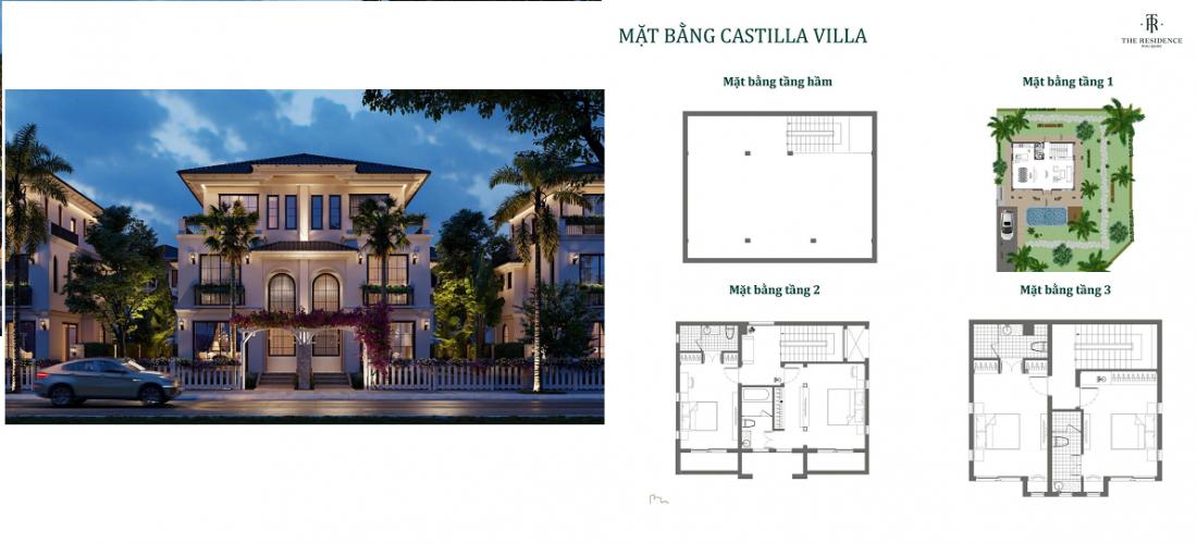 Phối cảnh mặt bằng dự án biệt thự The Residence Phú Quốc