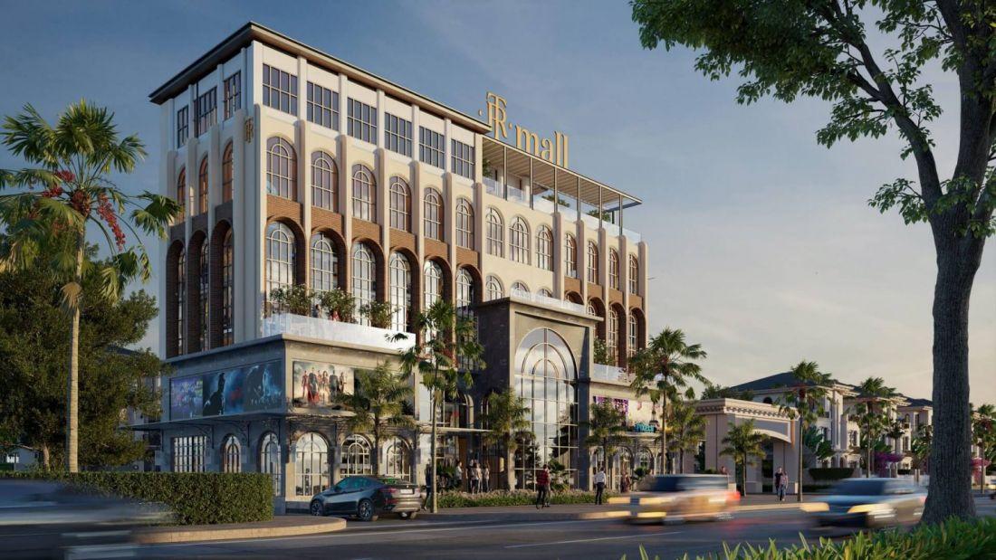 Phối cảnh khu tổ hợp thương mại cao 6 tầng tại dự án biệt thự The Residence Phú Quốc