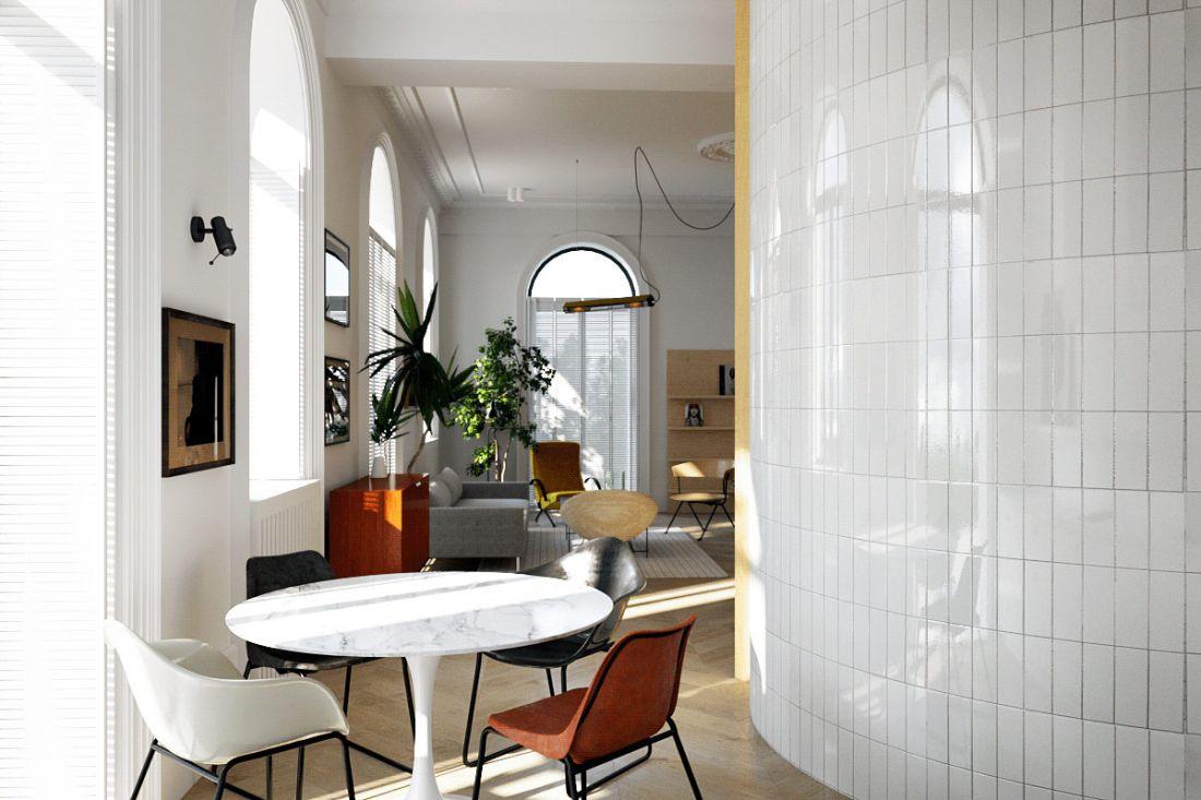 Căn nhà 65m2 độc đáo với thiết kế mái vòm
