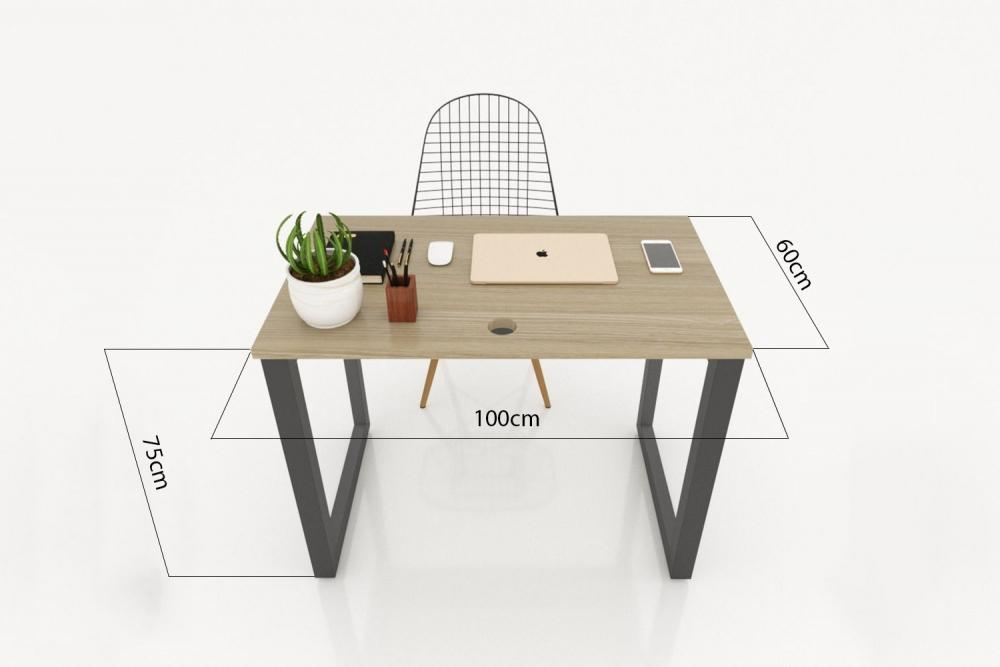 Kích thước bàn làm việc hình chữ nhật theo phong thủy