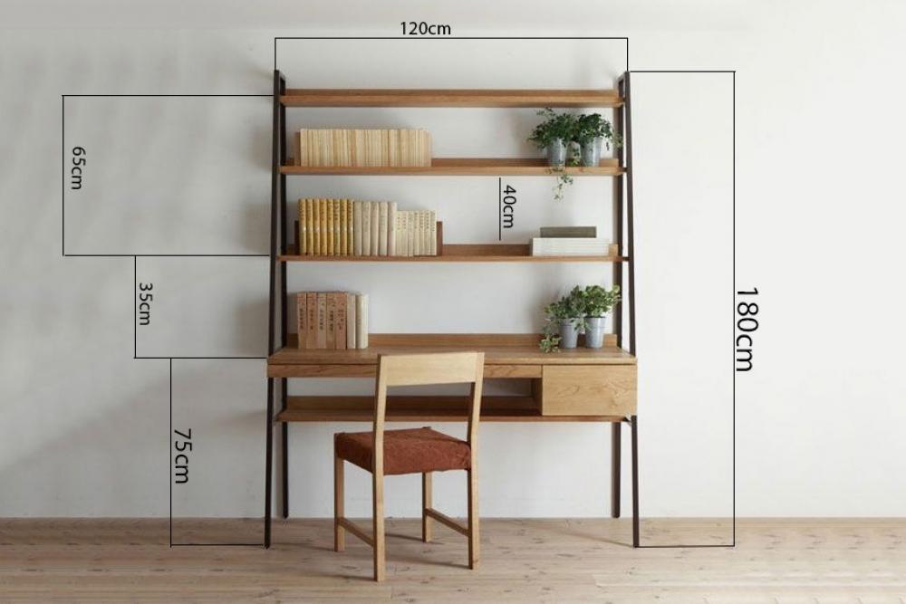 Kích thước bàn làm việc kết hợp tủ theo phong thủy