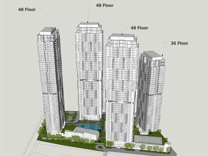 Quy mô dự án căn hộ Masteri Lumière Riverside Quận 2
