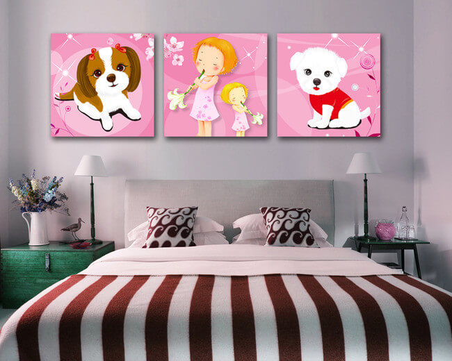 Xu hướng chọn tranh treo tường phòng ngủ trẻ em