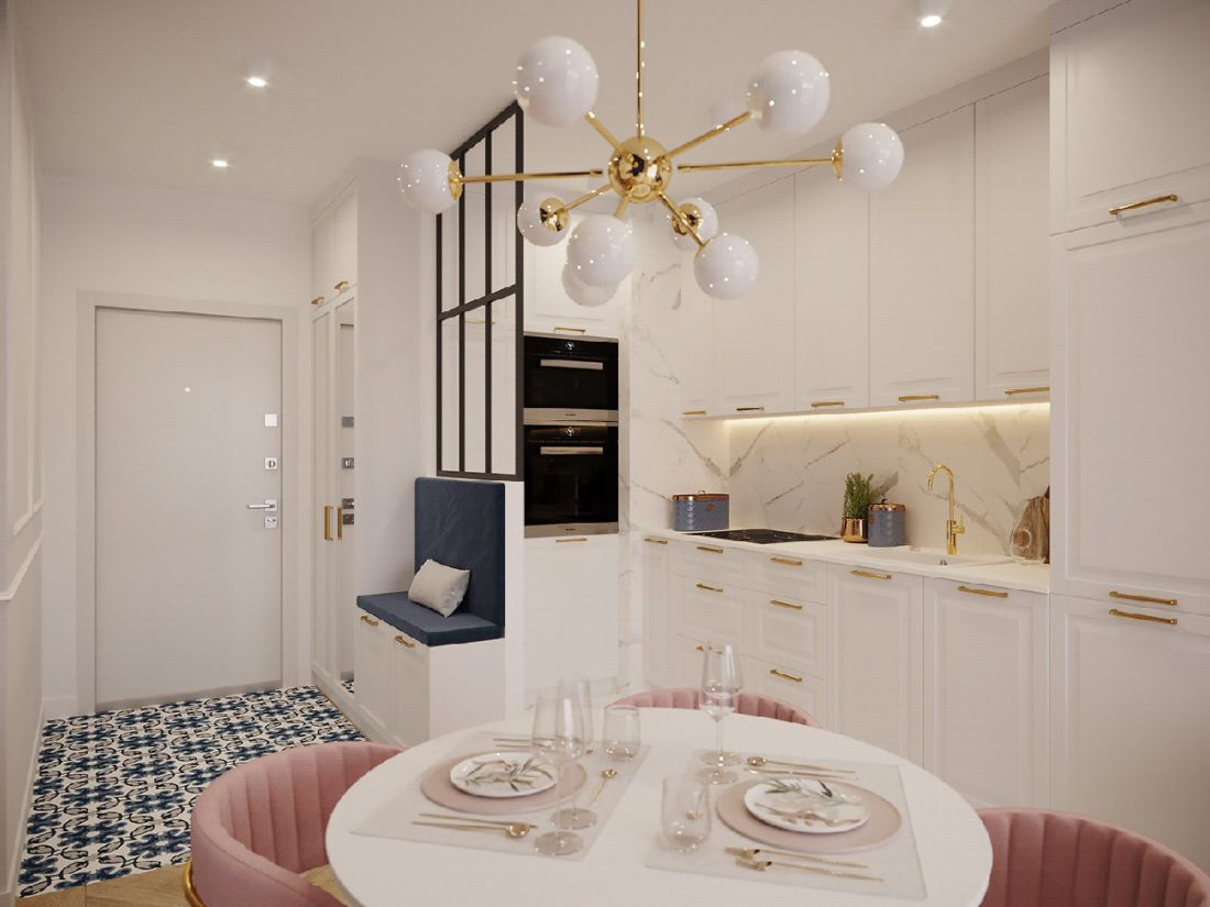 Không gian tươi mới nhờ trang trí nội thất màu hồng, xanh đậm