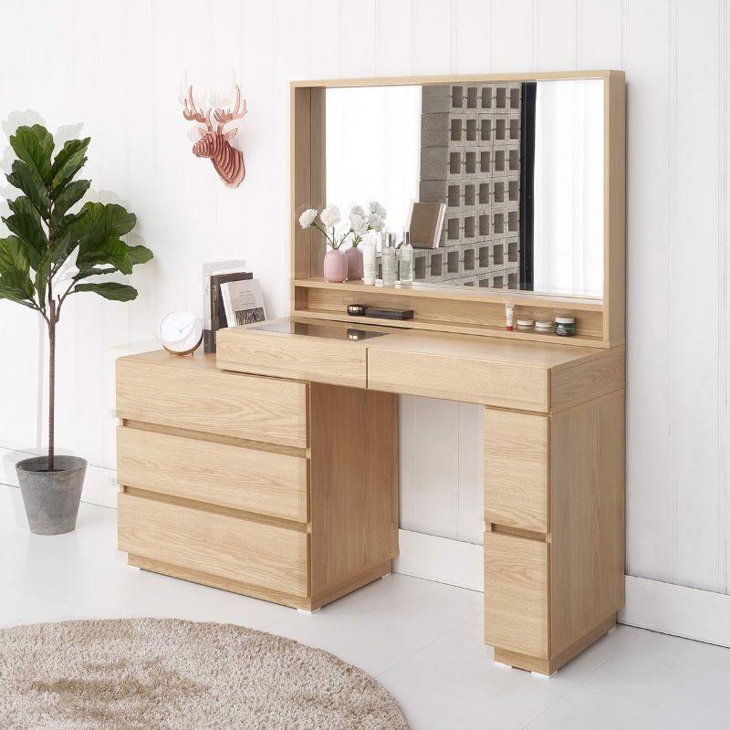 Bộ bàn trang điểm gỗ thông