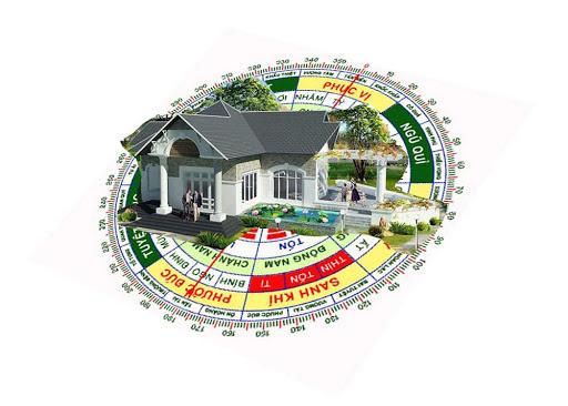 Ngôi nhà hợp phong thủy sẽ hội tụ những yếu tố thuận lợi từ đất, nước, hướng gió,..