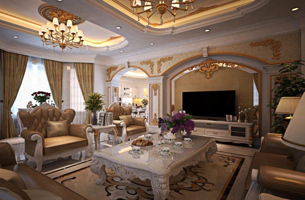 Vật liệu sử dụng trong nội thất phong cách cổ điển