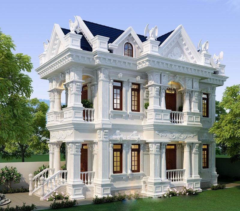 Mẫu biệt thự cổ điển đẹp 2021