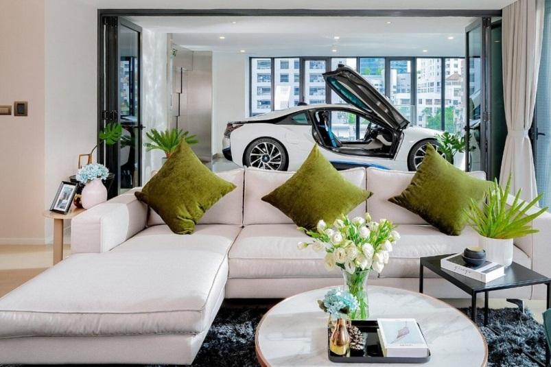 Tiêu chuẩn của các căn hộ siêu sang: Phải có không gian trưng bày xe ô tô trong nhà