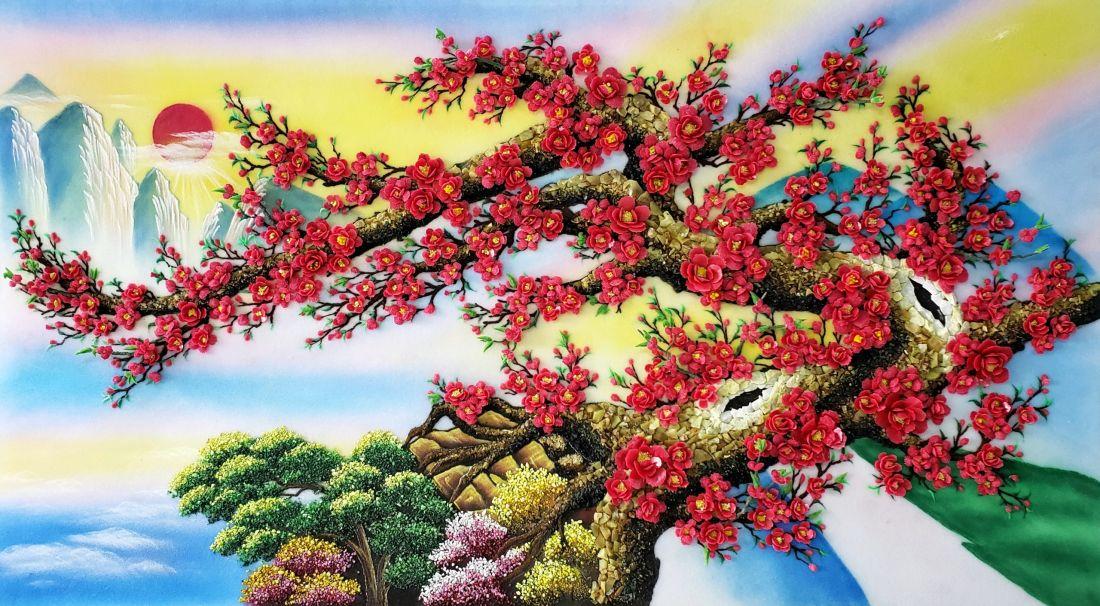 Ý nghĩa phong thủy của tranh hoa đào