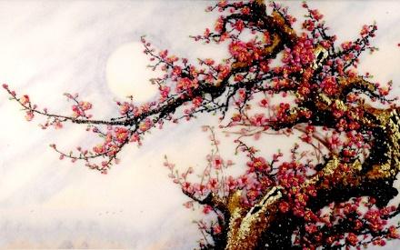 Ý nghĩa phong thủy tranh hoa đào