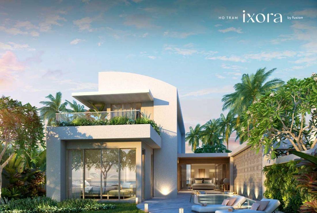 Thiết kế biệt thự vườnnằm ở trung tâm dự ánIxora Hồ Tràm by fusion