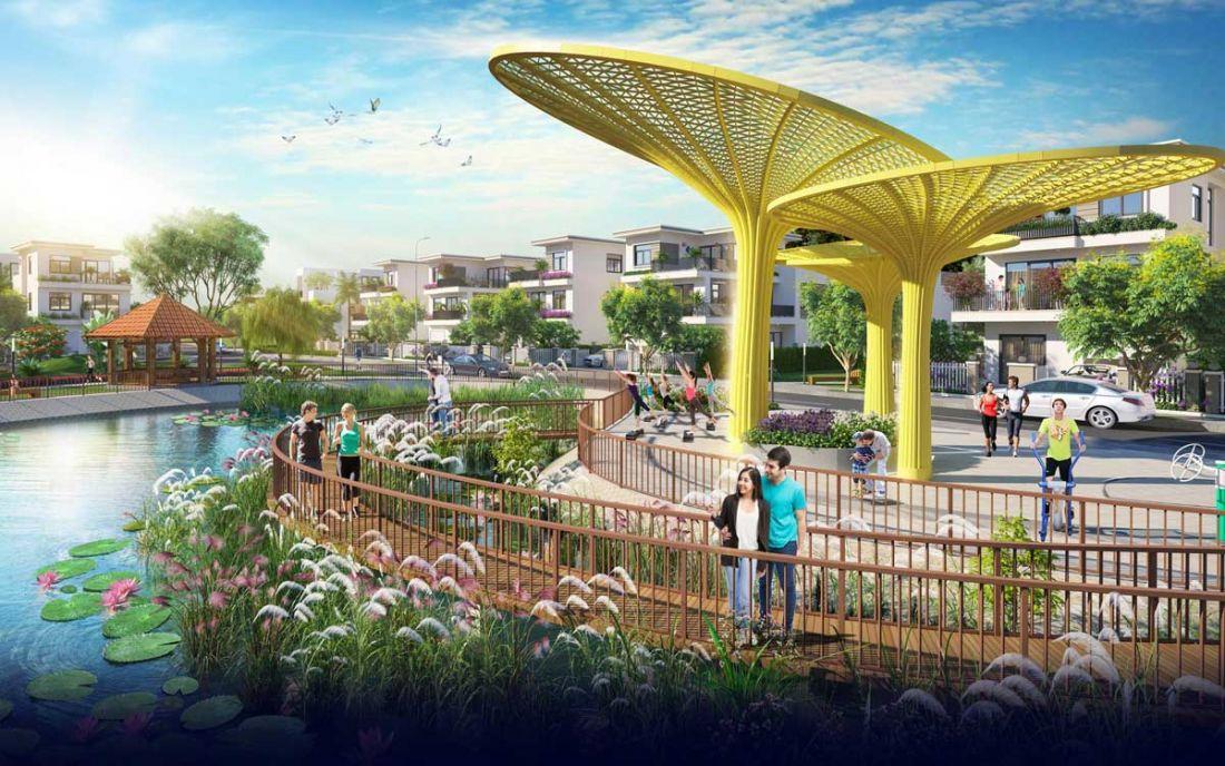 Công viên nội khu dự án căn hộ Dragon Sky View Thủ Đức