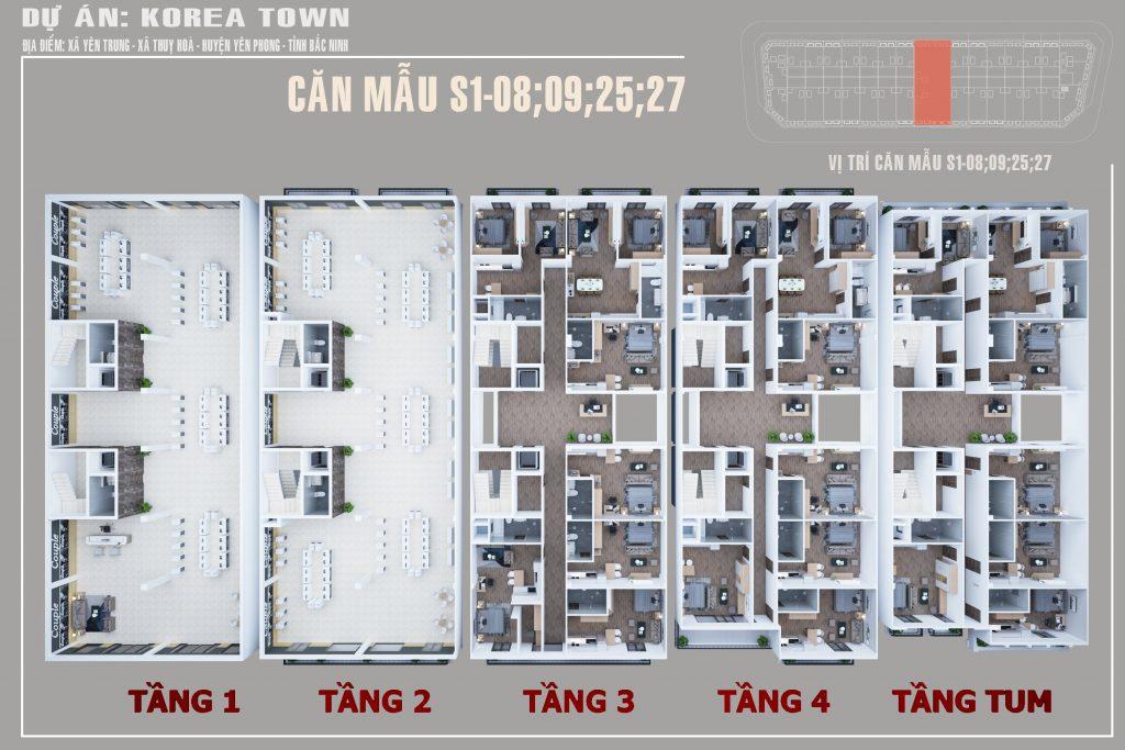 Nhà phố thương mại Korea Town Yên Phong 3