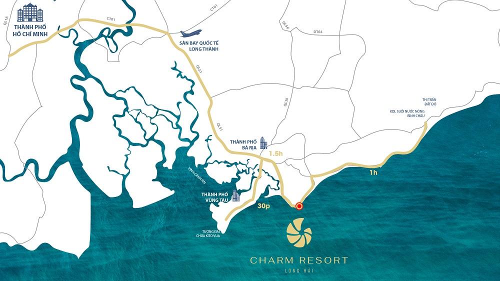 Địa thế phong thủy vượng khí hội tụ của Charm Resort Long Hải