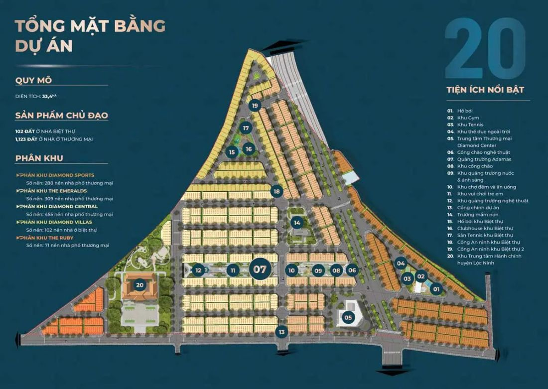Đất nền Diamond City Bình Phước 2