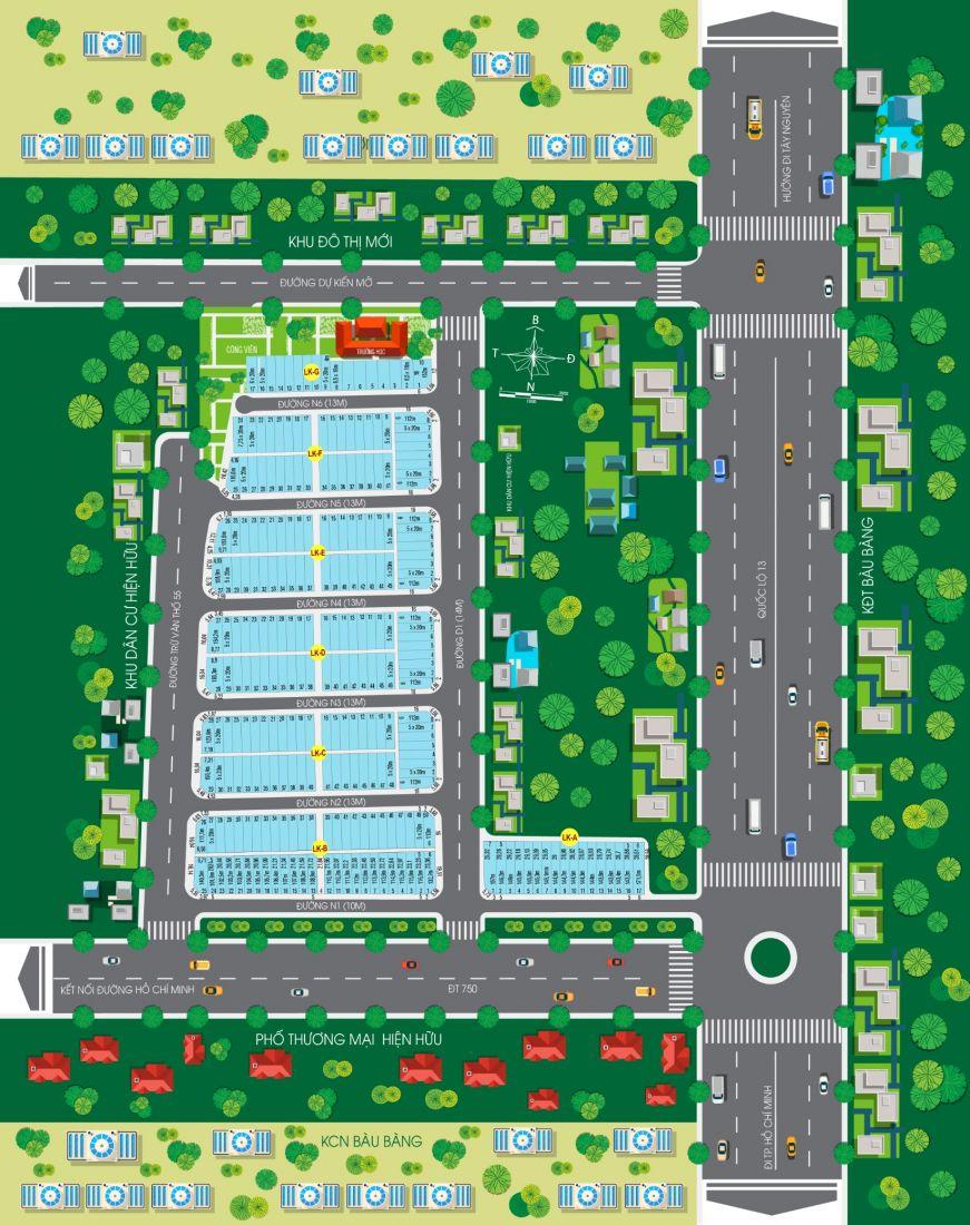 Nhà phố thương mại New Land Bàu Bàng 2