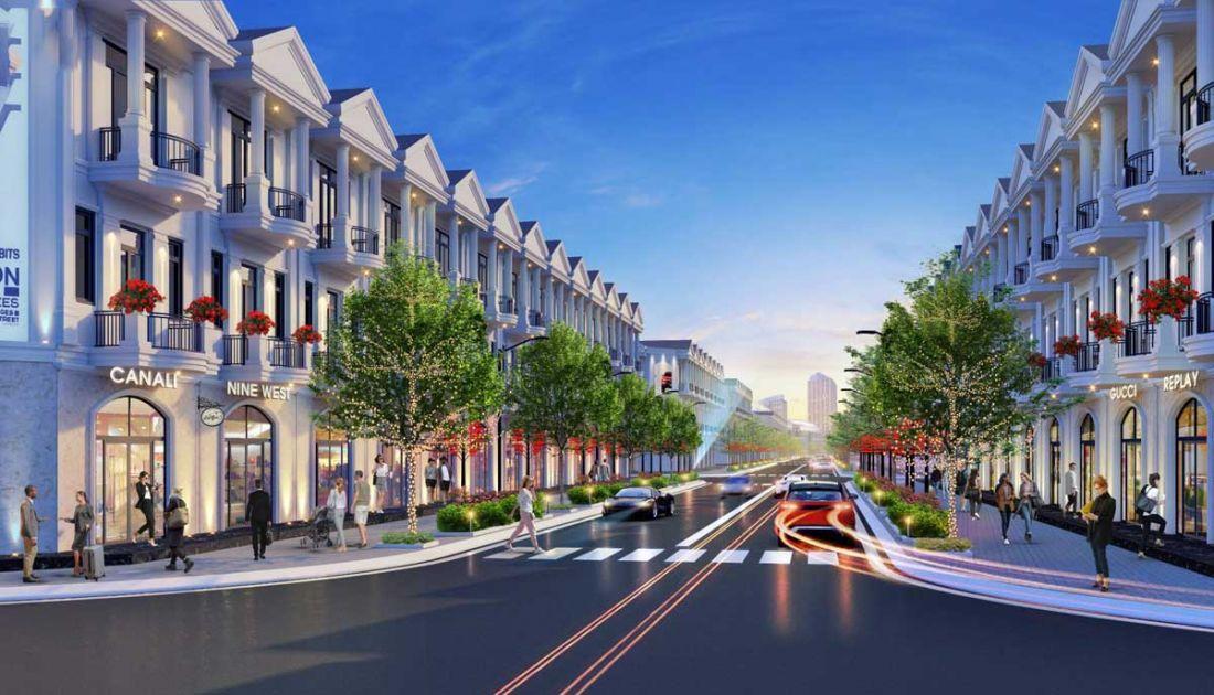 Phối cảnh nhà phố dự án Rosa Riverside Complex Quảng Nam