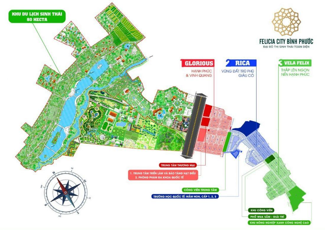 Mặt bằng dự án đất nềnFelicia City Bình Phước